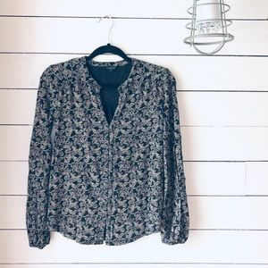 LUCKY• Floral Patterned Blouse